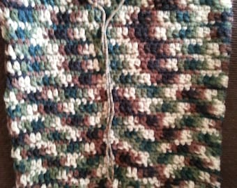 Crocheted Camouflage Neck Warmer