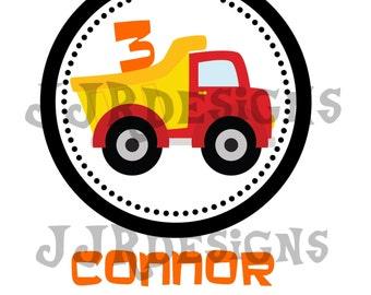Construction Iron On- Construction Birthday- Construction Shirt- Construction Birthday Shirt- Dump Truck Party- Dump Truck Shirt