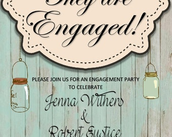Rustic ENGAGEMENT PARTY Design