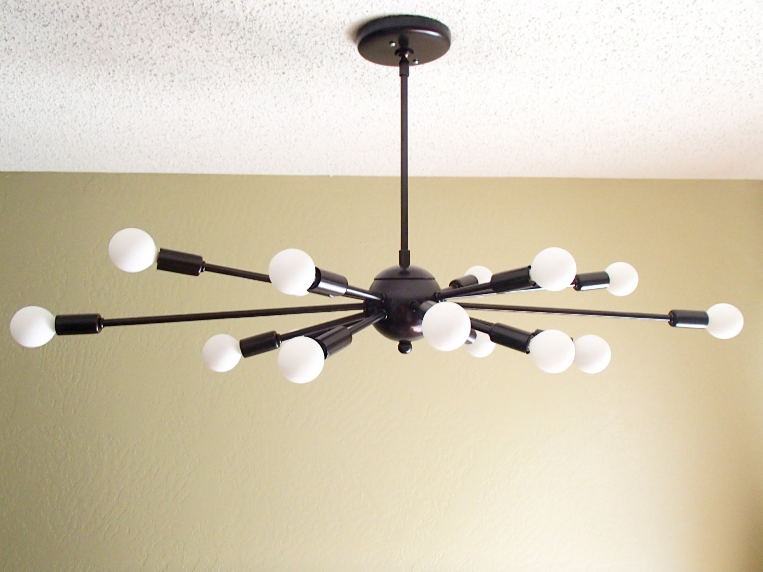 Atomic 16 Arm Sputnik Ceiling Light Chandelier Mid Century