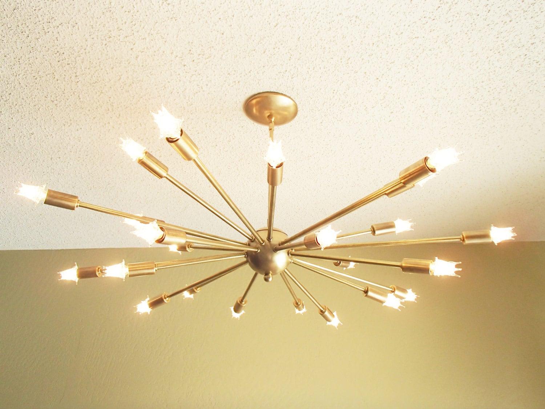 large 24 arm sputnik light atomic mid century by. Black Bedroom Furniture Sets. Home Design Ideas