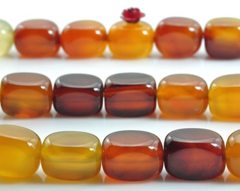15 inches of Rainbow Agate smooth nugget beads in 9-10mm x 13-14mm