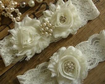 Wedding Garters / Wedding Garter Belt / Garter / Ivory / Bridal Garter / Toss Garter / Vintage Inspired