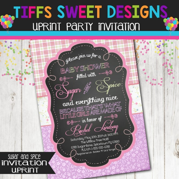 Sugar And Spice Baby Shower: Sugar And Spice Baby Shower Invitation