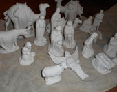 Sale Holland 18 piece bisque ceramic nativity set  Beautiful! Ready to finish