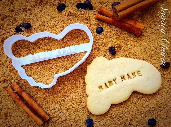Personalized Baby feet Cookie Cutter (NAME your COOKIE) for Baby shower party