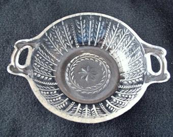 FREE shipping-open handle-wheat pattern-bowl