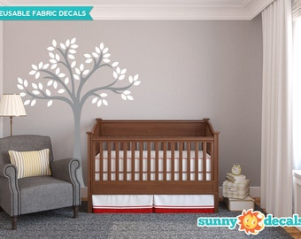Beautiful Tree Fabric Wall Decal, Tree Wall Décor with Customizable Color Options - Reusable, Repositionable