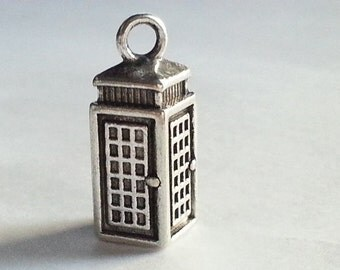 10 Police Box, Telephone Booth, Tardis, Dr Who Charms, Dr Who Pendants, Superman, Phone Booth