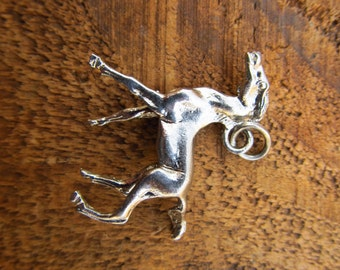 Vintage Metal Horse Pendant - Vintage Silver Metal Horse Charm Pendant