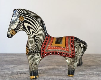 Abraham Palatnik Op Art Lucite Horse with Blanket and Bridle