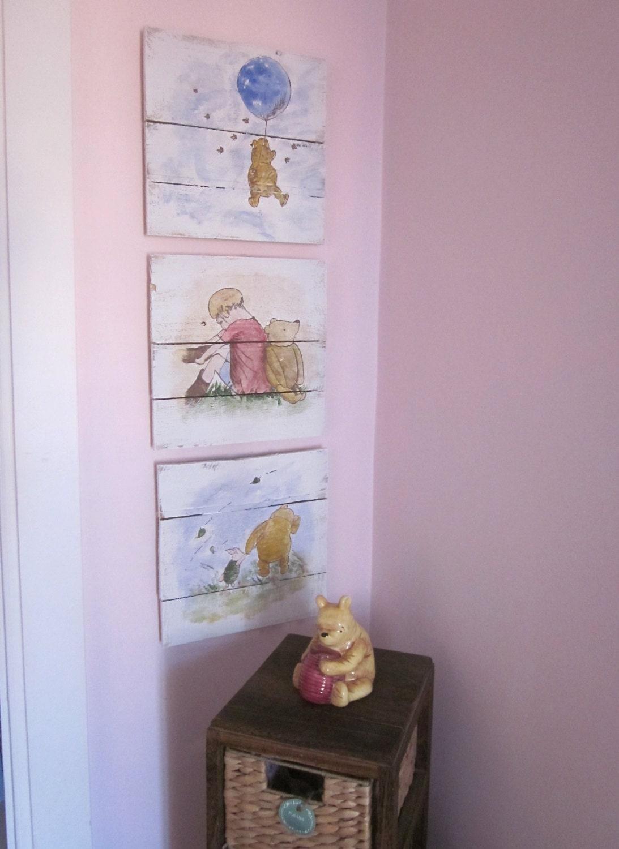 classic winnie the pooh nursery set. Black Bedroom Furniture Sets. Home Design Ideas