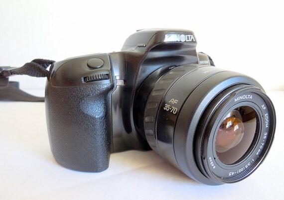 minolta maxxum 400si appareil photo argentique 35mm avec. Black Bedroom Furniture Sets. Home Design Ideas