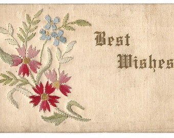 Baltimore Embroidery Company - Best Wishes Postcard