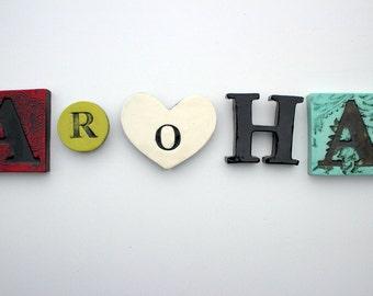 Aroha word tile set