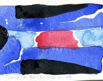 COLOUR FIELD - Watercolour Abstract - Contemporary Fine Art - ElizabethAFox