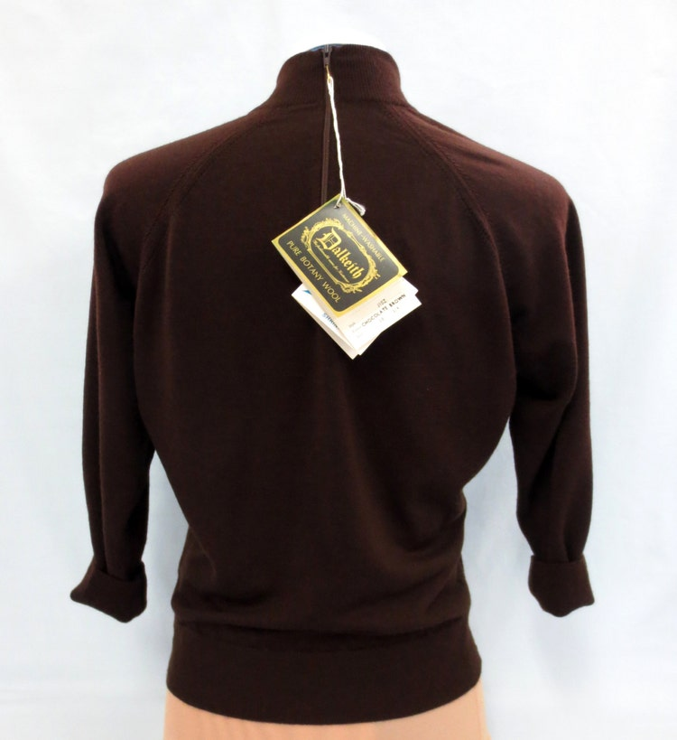 Dalkeith Merino Wool Sweater Made In England Size By