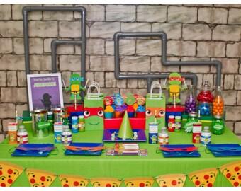 INSTANT DOWNLOAD - Digital Teenage Mutant Ninja Turtle Party; TMNT Party; Ninja Turtle Birthday Party