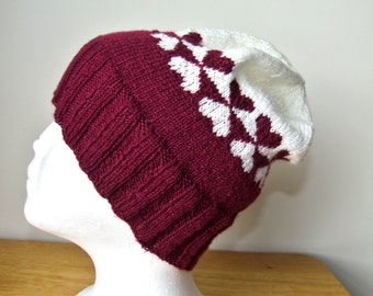 Knitting Pattern: Two of Hearts Hat