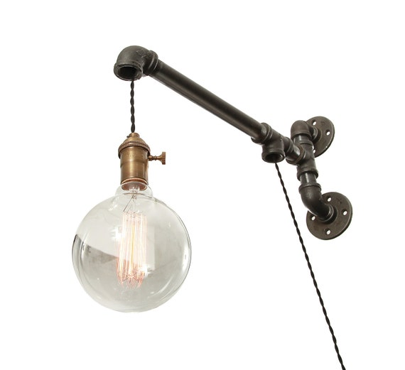 Industrial Lighting Wall Lights : Industrial Pipe Wall Light Wall Light Pipe Light Wall