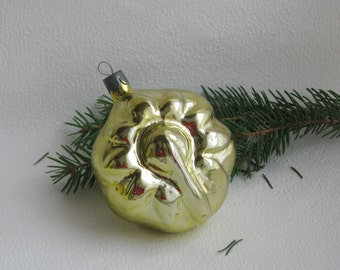 Soviet Christmas tree decoration, Christmas Glass Ornament - Made in USSR