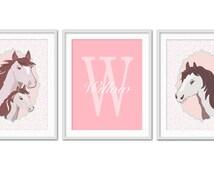 Horse Nursery Art, Horse Room Decor for Girls, Kids Wall Art, Pony Print, Horse Art for Children, Horse Bedroom Decor