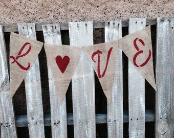 LOVE Wedding Day Banner XL Pennants