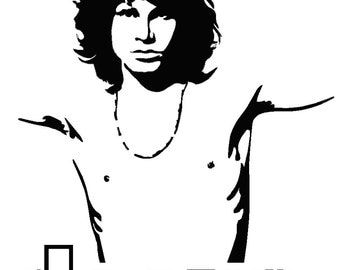 "Jim Morrison. 24cm x 29cm (9.44""x11.41"").Decal. Wall Sticker.Car Sticker"