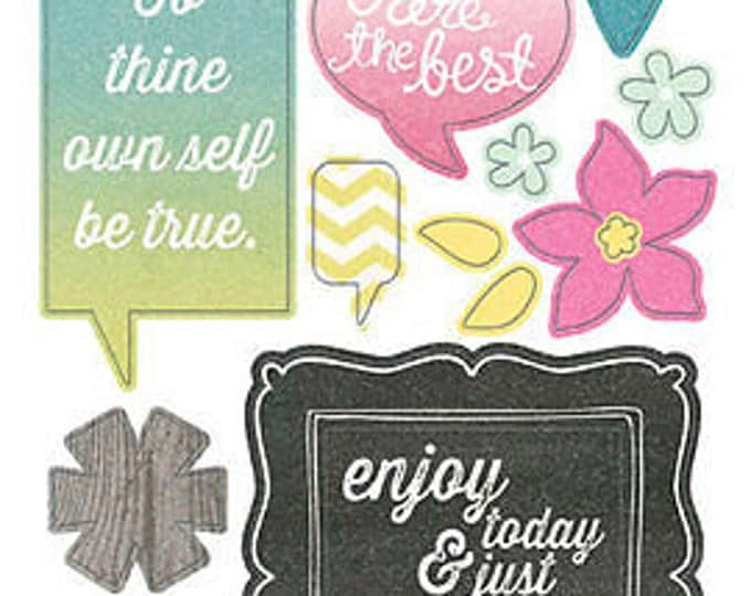 "My Mind's Eye CUT & PASTE - ADORBS - ""Be"" Chipboard Stickers"