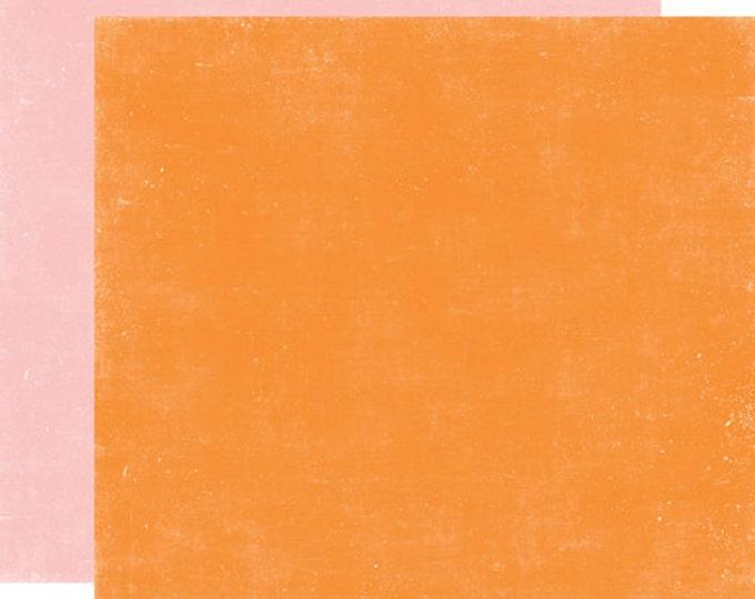 2 Sheets of Echo Park Paper HELLO SUMMER 12x12 Scrapbook Paper - Orange/Pink