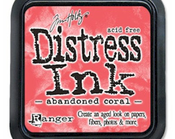 Tim Holtz Distress Ink Pad - ABANDONED CORAL February 2015