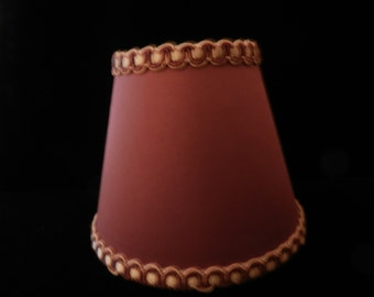 Two Mini Lamp Shades for Wall Sconces or Candle Light - Clip-on Shade