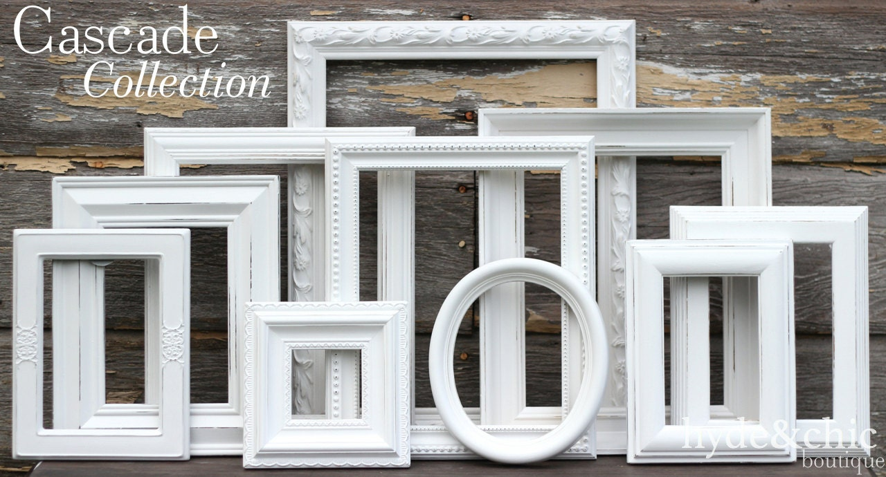 apartment themes frames white shabby chic picture frames
