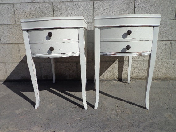 2 french provincial neoclassical nightstands furniture bedside for French nightstand bedside table
