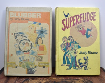 Judy Blume Hardcover Lot, Blubber and Superfudge