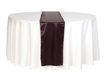 YCC Linen - Eggplant Satin Table Runner | Wedding Table Runners, 14 x 108 inch Satin Table Runners