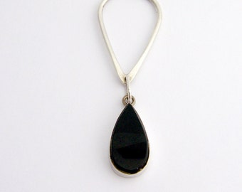 Onyx Drop Pendant  Sterling Silver Mexico