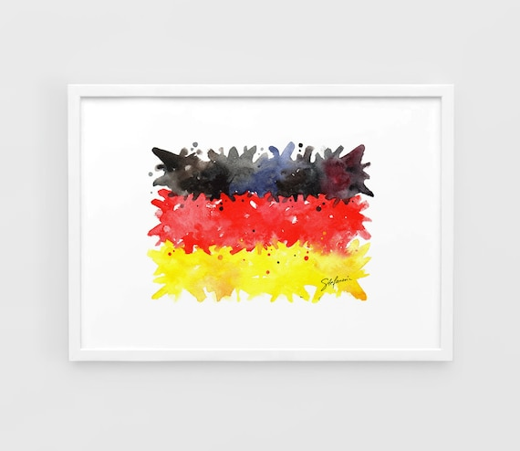 Germany Flag Uefa Euro 2016 A3 Wall Art Print Poster Of The