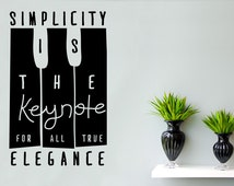 Coco Chanel - Simplicity Is The Keynote For All True Elegance Wall Sticker