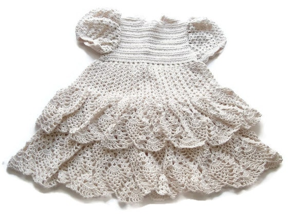 Crochet Baby Dress Infant preemie Newborn Reborn Doll