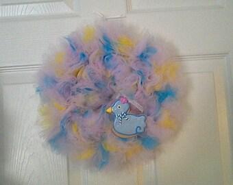 A Little Birdie Tulle Wreath