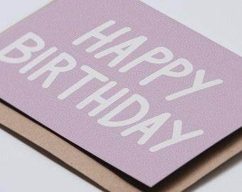 Happy Birthday - Purple - Birthday Card
