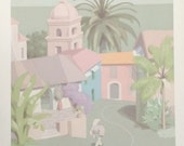 La Casa Azul Poster by William Buffett - 47 cms by 75 cms - very slight crease on poster through handling