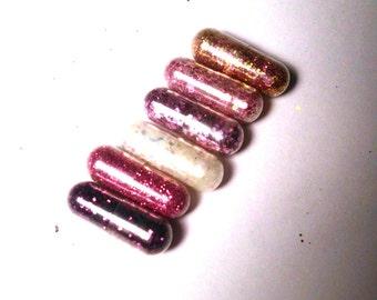 Glitter Pills, Glitter Pill,  Pink, White, Purple, Rose Gold, 6 Pills, New Years Party Favor, White Elephant Joke Gift Gag Gift, Party Favor