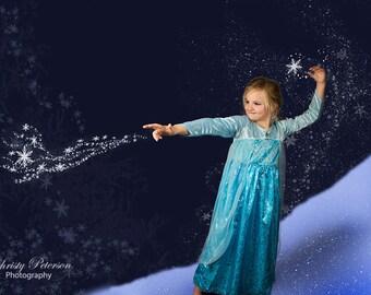 Frozen snow etsy elsa inspired frozen snow and winter digital background voltagebd Gallery