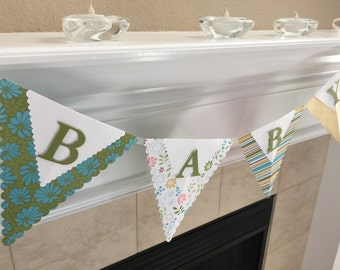 Baby Pennant Banner, Baby sign, Baby Shower Banner, New Baby Banner