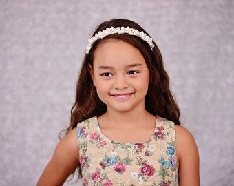 Flower Girl Ivory Headband / Tiara.