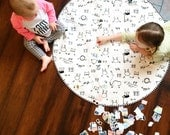 """Roundie Quilted Play Mat - """"Dress Me for the Playground"""""""