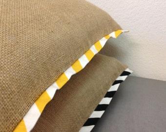 Burlap pillow cover/queen size pillow cover/king size pillow cover/standard pillow cover - Bedding/burlap bedding/women/pillow sham/women