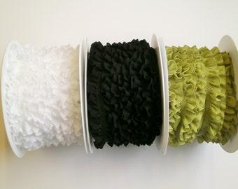 "1m Ruched elastic trim ""Cotton"" 16 mm w."
